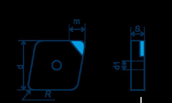 CBN Wendeplatte CNGA, E=gebürstet