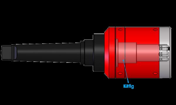 Käfig für Außenrollierwerkzeug ohne Helix