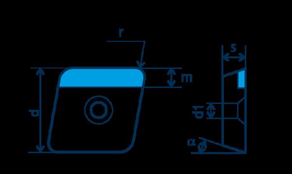 PKD-Wendeplatte CPGW