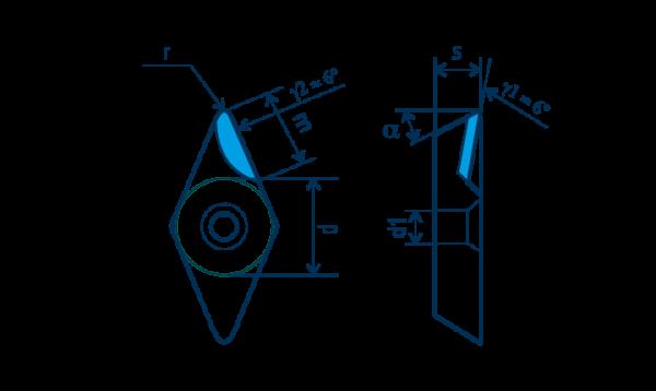 PKD-Wendeplatte DCGT