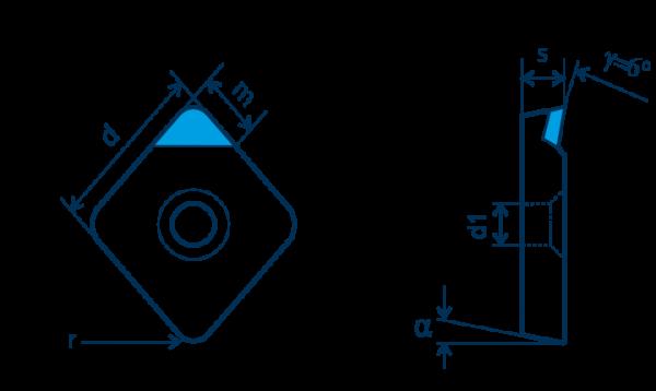 PKD-Wendeplatte CPGT