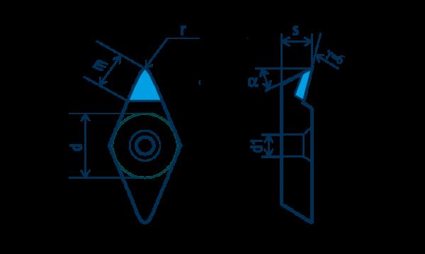 PKD-Wendeplatte DPGT