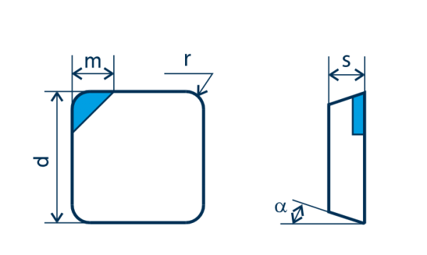 PKD-Wendeplatte SPGN