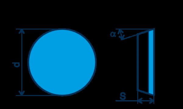 CBN Wendeplatte RPGN, E=gebürstet