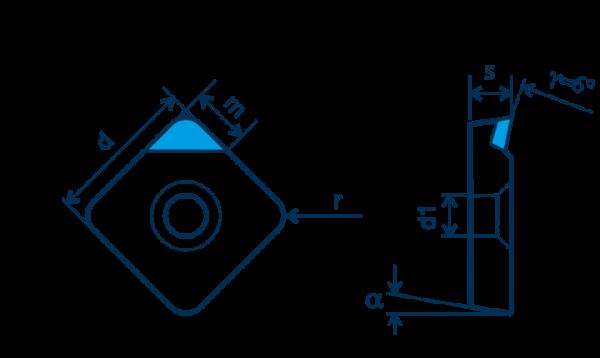 PKD-Wendeplatte SPGT