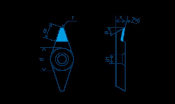 PKD-Wendeplatte VBGT