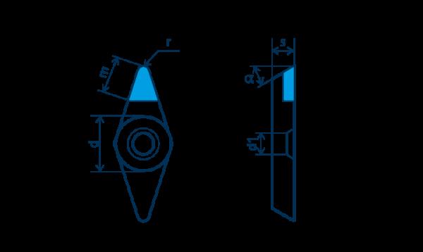 PKD-Wendeplatte VBGW