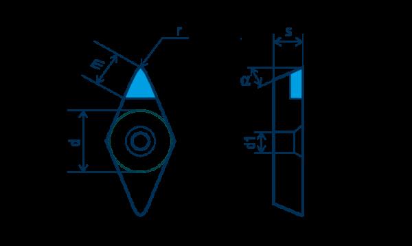 PKD-Wendeplatte DPGW