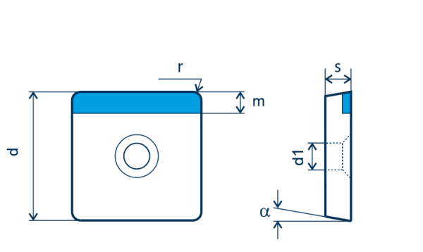 PKD-Wendeplatte SCGW