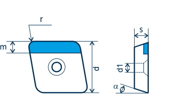 PKD-Wendeplatte CCGW