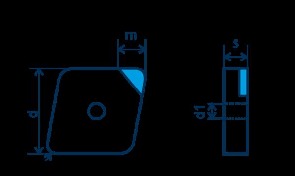 PKD-Wendeplatte CNGA