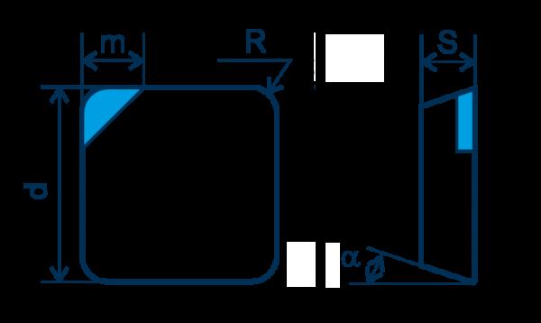 CBN Wendeplatte SPGN, E=gebürstet