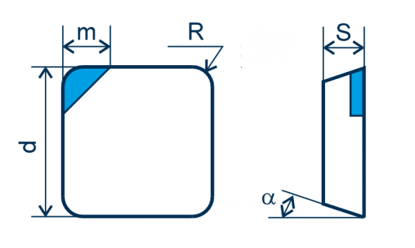 CBN Wendeplatte SPGN, F=scharfkantig