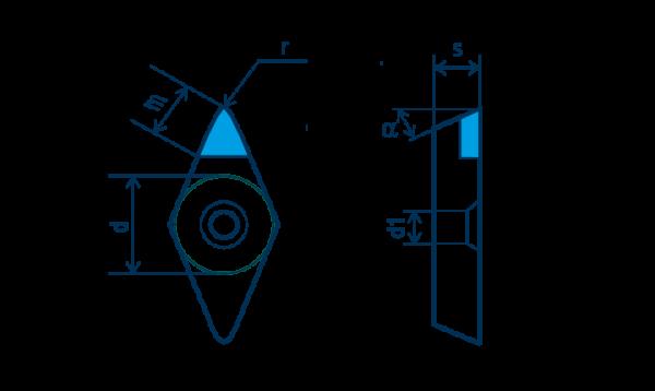 PKD-Wendeplatte DCGW