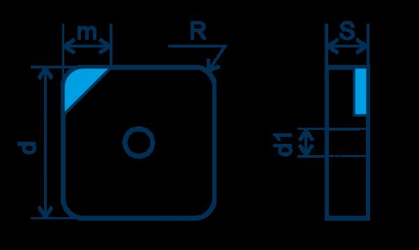 CBN Wendeplatte SNGA, E=gebürstet