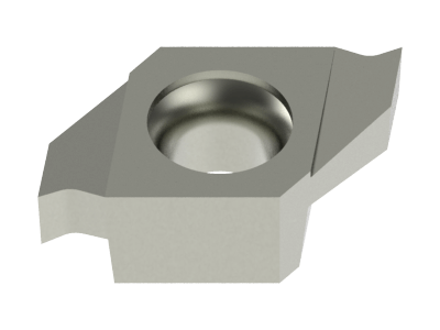 Carbide Grooving Insert for Aluminium, Copper Alloys, Plastics, Stainless Steel and Special Alloys