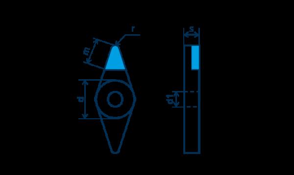 PKD-Wendeplatte VNGA